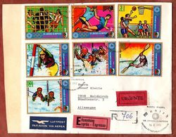 Luftpost, Expres, Einschreiben Reco, Satzbrief Olympiade Augsburg, SoSt Santa Isabel Malabo, Nach Waldkirch 1972 (89919) - Äquatorial-Guinea