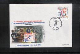 Croatia / Kroatien 2000 European Handball Championship Interesting Cover - Handball