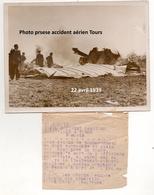 Photographie Originale Presse  Armée De L'air  Accident Aérien Avions Avril 1939 WWII 1939-45 - Aviazione