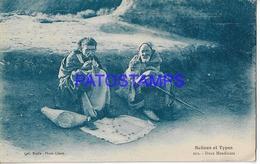 128661 AFRICA COSTUMES NATIVE TWO MENDIANTS POSTAL POSTCARD - Libyen
