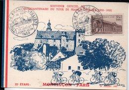 Montluçon - CINQUANTENAIRE DU TOUR DE Françe ( 1903 - 1953 ) 22e Etape Montluçon -  Paris 26 Juillet 1953 - Montlucon