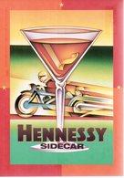 REF 459 : CPM Publicité Type Cart'com Cognac Hennessy Sidecar Side Car Moto Motard - Pin-Ups
