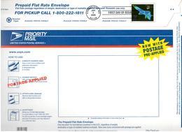 Enveloppe Préaffranchie Grand Format Priority Mail Obl 1er Jour Kansas City 05/01/2006 - 2001-10