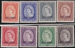 St  Vincent   .   SG  .    8 Stamps  Specimen      .     *     . Mint-hinged     .   /   . Ongebruikt - St.Vincent (...-1979)