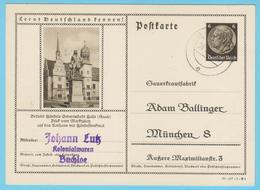 """J.M. 33 - """"Lernt Deutschland Kennen - N° 11 - Série 3-147-1-B4 - Halle Händeldenkmal Rathaus - Komponisten - Compositeur - Allemagne"""