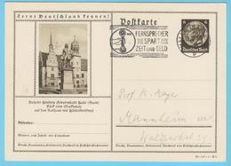 """J.M. 33 - """"Lernt Deutschland Kennen - N° 11 - Série 39-147-1-B3 - Halle Händeldenkmal Rathaus - Komponisten Compositeur - Allemagne"""
