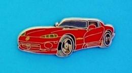 1 PIN'S  //  ** CHRYSLER / DODGE VIPER / RT10 ** . (BALLARD)  ./ Argenté - Corvette