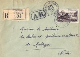 85 - VENDEE - FONTENAY LE COMTE  TàD De TYPE A6 De 1949/51 - Marcophilie (Lettres)