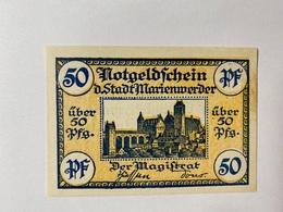 Allemagne Notgeld Marienwerder 50 Pfennig - [ 3] 1918-1933 : République De Weimar