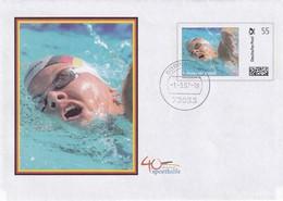 Germany 2008 Postal Stationery Cover:  Swimming; Schwimmen; Franziska Van Almsick - Schwimmen