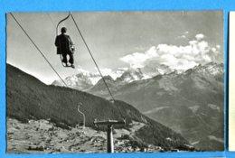 OLI252, Verbier, Télésiège De Savolayres, Vue Sur Les Combins, E. Gyger, 55206, Non Circulée - VS Valais