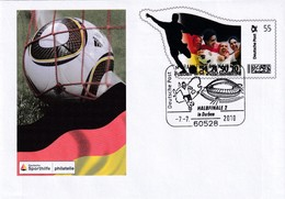 Germany 2010 Postal Stationery Cover: Football Fussball Soccer Calcio; FIFA World Cup; 1/2 Final Durban Stadium - World Cup