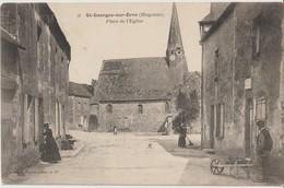 SAINT GEORGES Sur ERVE ( Mayenne ) - Place De L'Eglise. Personnages. Carte Animée - Francia