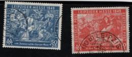 1949 6. März Leipz. Frühjahrsmesse Mi DD 230 - 31 Sn DD 10NB4 - 5 Yt DD-ZS 49 - 50 Sg DD R51 - 52 Gest. O - Zona Soviética