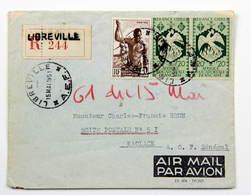 AEF, Lettre Recommandée 1951 Libreville --> AOF, Kaolack, Affr. 5 F 40 - A.E.F. (1936-1958)