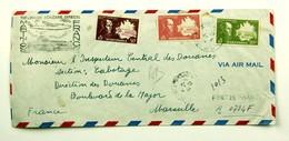 Lettre Recommandée 1947 Fort De France --> Marseille, Affr. 23 F 50, 1ere Liaison Aerienne Martinique - France - Cartas