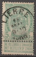 COB N° 56 Obl. LIERRE - 1893-1900 Fine Barbe