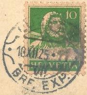 Tell 153, 10 Rp.grün  LUZERN  (Rasierklingenstempel)       1925 - Svizzera