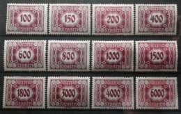 Autriche 1922 / Yvert TAXE N°117-130 Incomplet / * - Postage Due