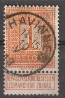 COB N° 108  Obl. HAVINNES 1913 - 1912 Pellens