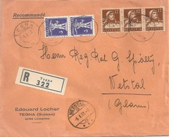 "R Brief  ""Locher, Tegna"" - Netstal        1933 - Svizzera"