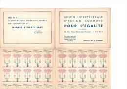 """CARNET 20 """"TIMBRES"""" UNION INTERF. ACTION COMMUNE POUR EGALITE - BALANCE: TRAVAIL EGAL - CHARGES EGALES - Commemorative Labels"""
