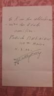 Autographe De Patrick Malrieu 8 Fois Champion De France Du 110m Haies Et 3e Au Championnat Du Monde - Autographes