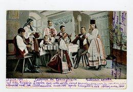 CPA - HONGRIE - ERDELYI - VOLKRSTRACHT AUS SIEBENBURGEN - SACHSTCHE BAUERNSTUBE - (COSTUMES DE TRANSYLVANIE) - - Hungría