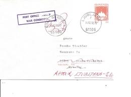 Slovénie ( Lettre  De 1992 De Ljubljana Vers La Croatie Et Retournée à L'expéditeur Pour Cause De Guerre à Voir) - Slovenia