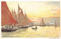 Oostende Ostende Barques Depeche  Vissersboten Aquarel Aquarelle J.L Goffart Carlo    Barry 5044 - Oostende