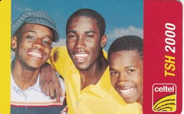 TARJETA DE TANZANIA DE TSH 2000 DE CELTEL - TRES JOVENES 31/08/2006 - Tansania