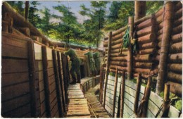 CPA Feldpostkarte 02 07 1919 - Kriegsbilder Aus Den Vogesen Ein Muster-Graben - Modèle De Tranchée --- Tranchées - Guerra 1914-18
