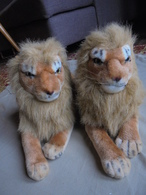 Couple De Lions En Peluche - Peluches