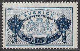 Sweden   1889   Sc#O26 10 On 12ore Blue Official MNG  2016 Scott Value $13 - Officials