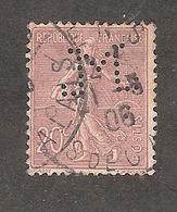 Perforé/perfin/lochung France No 131 M Sté Des Mines De Lens (6) - Gezähnt (Perforiert/Gezähnt)