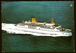 "The Ferry-Boat M/F ""Peter Wessel"" Plying Between Larvik  -  Ansichtskarte Ca. 1976    (11799) - Ferries"