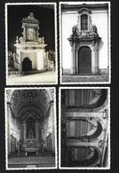 Conjunto De 4 Postais De VILA VIÇOSA Paço Ducal Sala Medusa + Capela Agostinhos + Panteao Duques Bragança PORTUGAL Évora - Evora