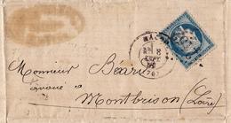 Lettre 1871 Mâcon Saône Et Loire Ernest Gautheron Notaire Rue Lamartine Montbrisson Loire - 1871-1875 Cérès