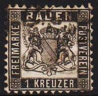 1862. BADEN. Wappen (Hintergrund Weiss.) 1 KREUZER 10x10  () - JF319699 - Bade
