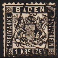 1862. BADEN. Wappen (Hintergrund Weiss.) 1 KREUZER 10x10  () - JF319700 - Bade