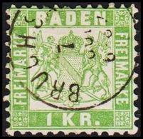 1868. BADEN. Wappen (Hintergrund Weiss.) 1 KR 10x10  () - JF319716 - Bade