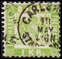 1868. BADEN. Wappen (Hintergrund Weiss.) 1 KR 10x10  () - JF319719 - Bade