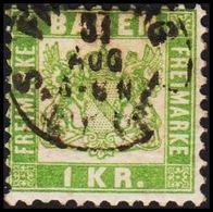 1868. BADEN. Wappen (Hintergrund Weiss.) 1 KR 10x10  () - JF319720 - Bade