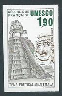 FRANCE - 1986 - NON DENTELE - Timbre De Service YT N°91 - 1 F. 90 - UNESCO Temple De Tikal Guatemala - NEUF** - TTB Etat - France