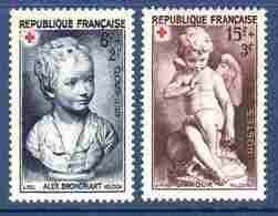 """France 1950 """"Croix Rouge"""" N°876 à 877 La Paire Neuve*  Ex N°3    TB    0,60 €  (cote 3,45 € 2 Valeurs) - Unused Stamps"""