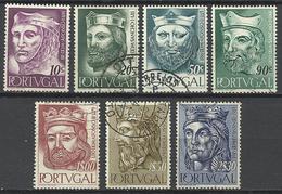 Portugal 1955  Scott N°804-812 (7/9 Valeurs)  Obl. - 1910 - ... Repubblica