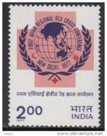 India MNH 1977, Red Cross Regional Conference, Health, Medicine, Globe, Map, - Ungebraucht