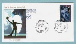 FDC France 1994 - Personnages Célèbres «De La Scène à L'écran» - Yves Montand - YT 2901 - 13 Marseille - 1990-1999