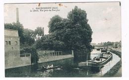 FR-4064  HAUBOURDIN : La Deule,Vue Prise Du Pont Fixe ( Bateau, Schip )( Kano ) - Haubourdin