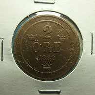 Sweden 2 Ore 1882 Varnished - Sweden